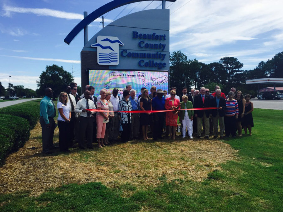 Beaufort County Community College Unveils New Campus Sign